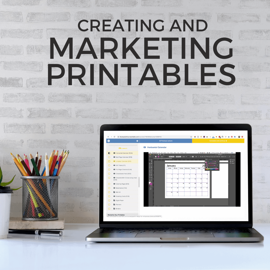 Learn how to create and market printables for bloggers